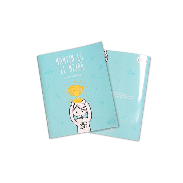 """Contraportada de """"Martín es el mejor"""", libro infantil que rechaza los estereotipos"""