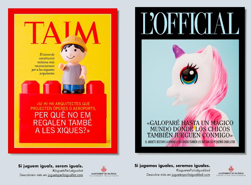 juguetes, iguales, estereotipos de género, comunidad Valenciana