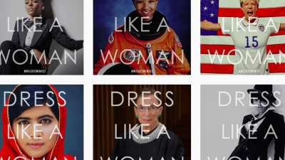 Dress like a woman o vestirse como una mujer by Donald Trump