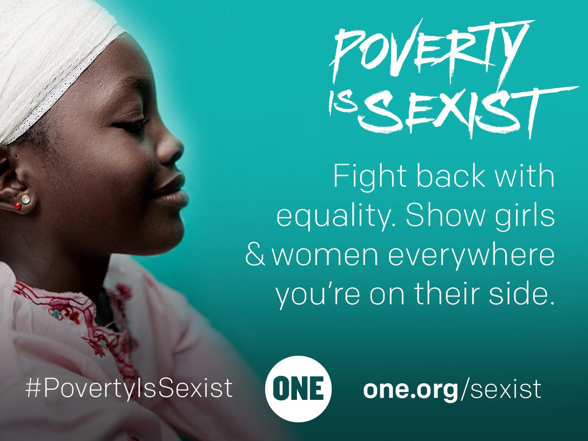 Poverty is sexist, la pobreza es sexista. Día internacional de la mujer