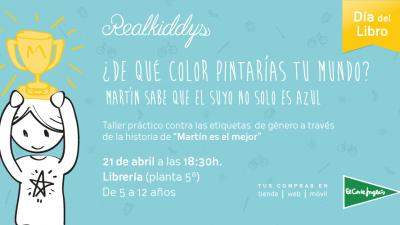 """Día del Libro. Taller """"Martín es el mejor"""". El Corteinglés."""