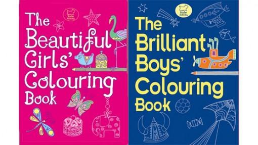 libros de colorear llenos de estereotipos de género
