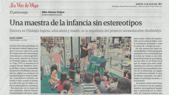 Educar sin estereotipos de género. La Voz de Galicia.